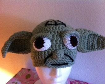Yoda Inspired Crochet Hat