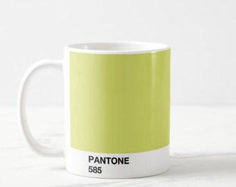 Pantone 585 Mug, Pantone Mug Green, Pantone Greenery, Pantone Mug, Pantone Mugs, Pantone Green, Pantone Design, Pantone Cup, Pantone Colors