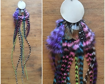 Birds of Paradise ..single feather earring