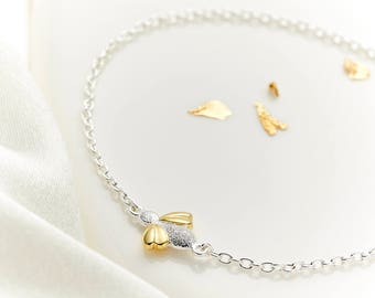 Sterling Silver & Gold Vermeil 'Honey' Bracelet
