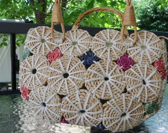 Handbag - Willow - straw - color insert