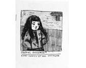Travel Document zine - autobiographical comics- FREE SHIPPING