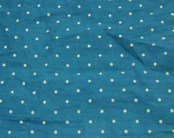Early Blue Fabric Quilt Dress Primitive Izannah Walker Wooden Bisque Doll