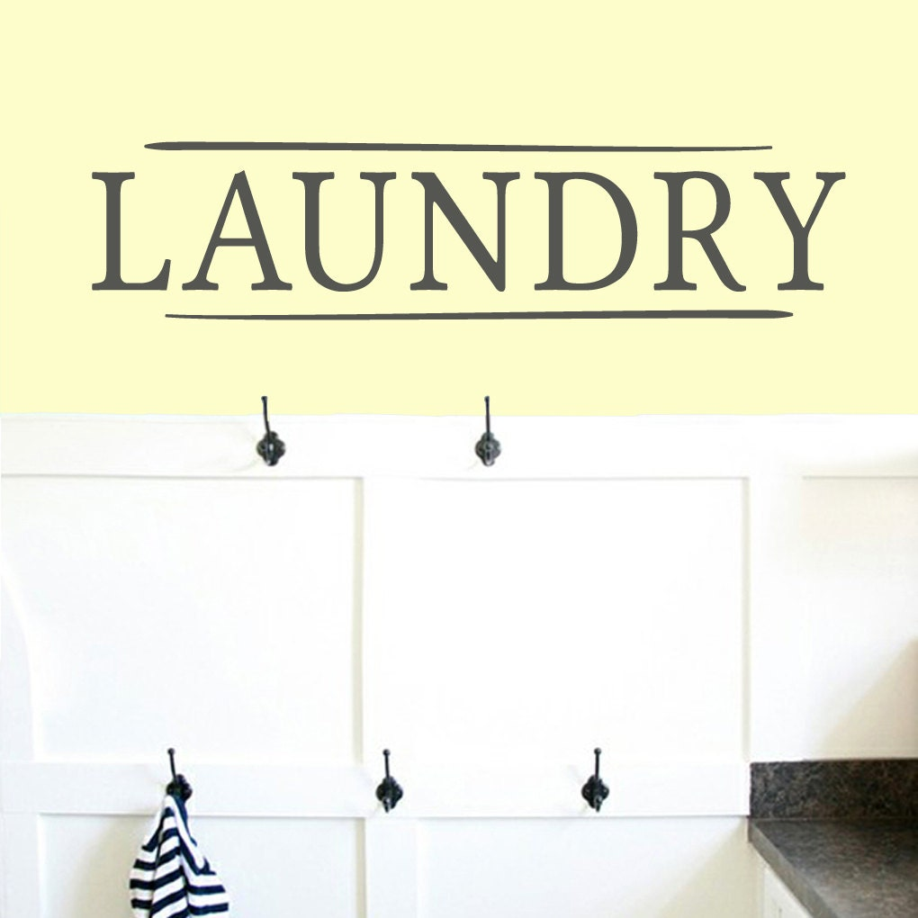 Laundry Laundry Room and Bathroom Wall Decals