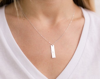 Initial Necklace  - Personalized Mom Necklace - Bar Necklace - Initial Jewelry - Mother Necklace - Mother's Day Gift