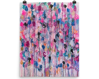 """Big Size High Quality Art Print of abstract painting """"Snow"""""""