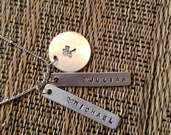 Hand stamped, personalized necklace