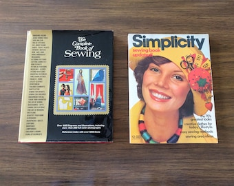 The Complete Book of Sewing 1972 Simplicity 1976 how to sew guide references photos illustrations 1970s fashion