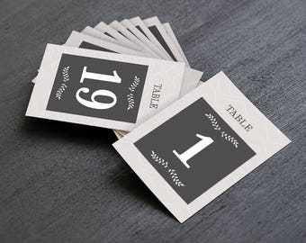 Modern Elegant Wedding & Event Table Numbers, Printable Table Numbers 1-30, Instant Download