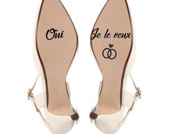 Yes wedding shoe stickers I want color choice