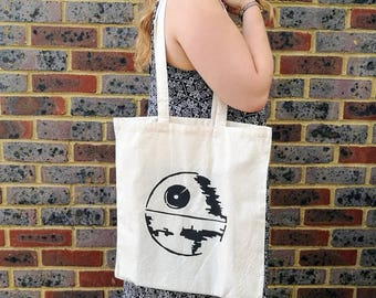 Star Wars Death Star Inspired Cotton Shopping Tote Bag