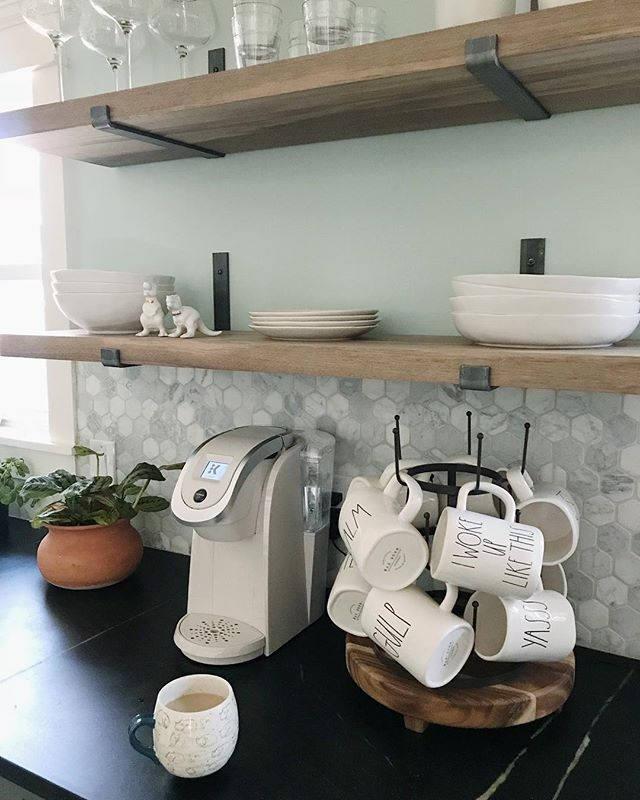 Open Kitchen Shelves With Brackets: Steel Shelf Bracket Modern Kitchen Open Shelving Iron Shelf