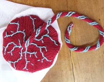 Knitted placenta for childbirth education with membrane (made to order)