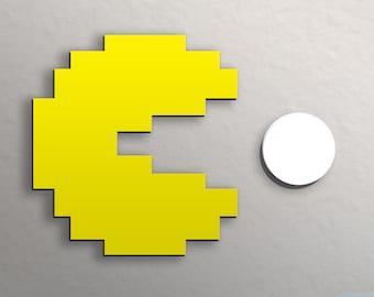 Retro Pac-man Wall Art Pacman Power Pellet Night light