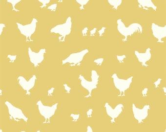 Farm Fresh - Hen and Friends Sun from Birch Fabrics