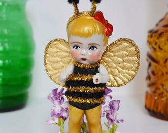 Bev the Bumblebee , Antique and Upcycled