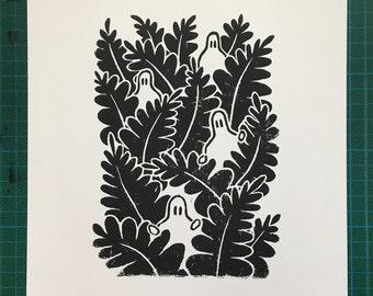 Jungle - Lino Print