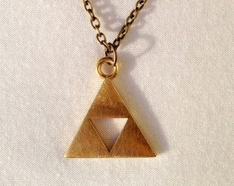 Complete Triforce Necklace from the Legend of Zelda
