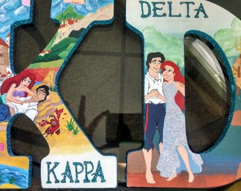 Little Mermaid Custom Hand Painted Wooden Letters
