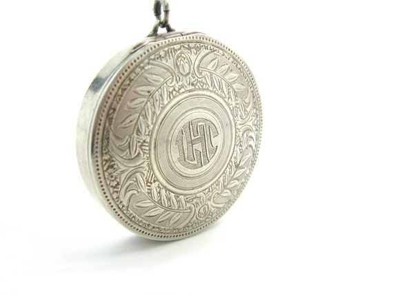 1920s Art Deco Vintage Elgin Sterling Silver Compact