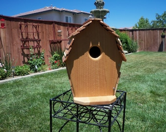 Handcrafted cedar birdhouse  #107 FREE SHIPPING