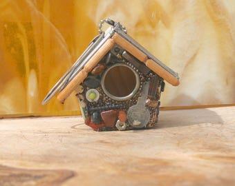 Small Hanging Birdhouse, Handmade Birdhouses, Fathers Day Gift, Grandpa Gift