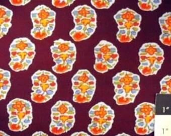 Kaffe Fassett GP75 Asha Prune Cotton Fabric 1 Yard