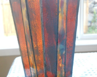 Brown Stained Glass Vase