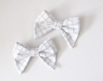 Piggy Tail Bow Clips    Dainty Plaid Bow Clips    Set of Bow Clips    Toddler Hairclips    Girls Hairclips    Girls Bow Set