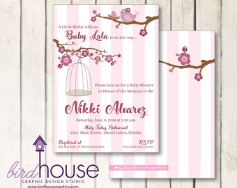 A little Birdie Baby Shower Invitation