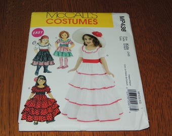 Uncut Child 3-8 Costume Pattern McCalls MP438