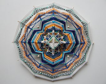 Yarn mandala 'Unknown' | Ojo de Dios | Olho de Deus | Eye of God | Wall hanging | 39 cm (15 in) |