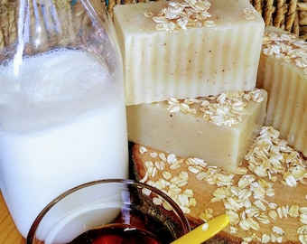 Goats Milk Soap | Soap With Honey | Soap With Oats| Unscented Soap | Soap For Eczema | Creamy Goat's Mile Soap | Creamy Moisturizing Soap