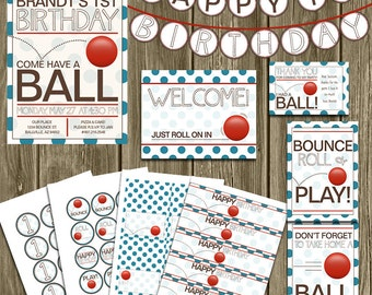 Ball Birthday Party Printables Package