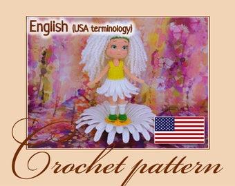 Chamomile - Crochet Pattern Amigurumi doll PDF file by Anna Sadovskaya
