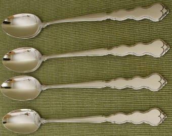 Oneida Stainless Valerie Four Ice Tea Spoons