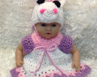 12 inch doll clothes,15 Inch Doll clothes,Unicorn dress set,gifts for kids,Unicorn Doll Outfits,Hat,dress,Shoes