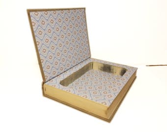 Hollow Book Safe The Cordon Bleu Cook Book  Cookbook Cloth Bound vintage Secret Compartment Security hiding place