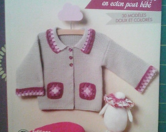 """Crochet and knit cotton baby"" book Editions Marie Claire"