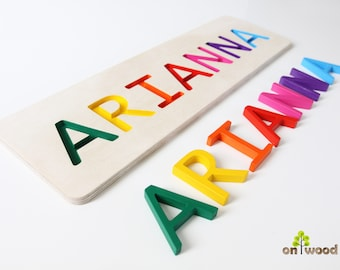 Personalized Name Puzzle - 1st Birthday Gift Boy Girl - Wooden Name Puzzle - Educational Toy - Personalized Baby Gifts - Custom Name Puzzle