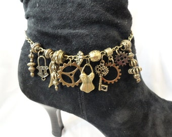 Steampunk Boot Jewelry  Bracelet Anklet #7