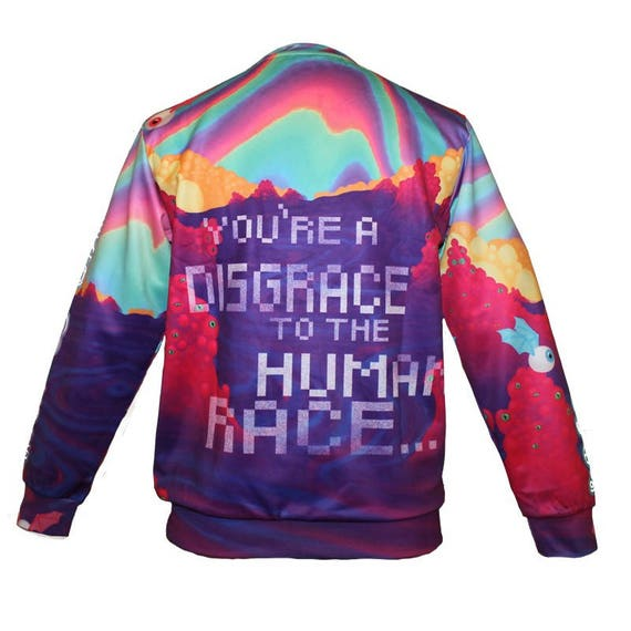 Be Who You Are On The Inside jumper hoody hoodie pullover top psychedelic colourful acid trippy trance festival rave EDM rock anatomy 76WnEE1z5F