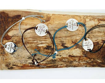 Leather 'Tree' Friendship Bracelet TPP054