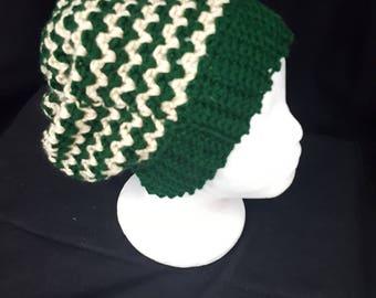 Crooked Green Stripe Hat