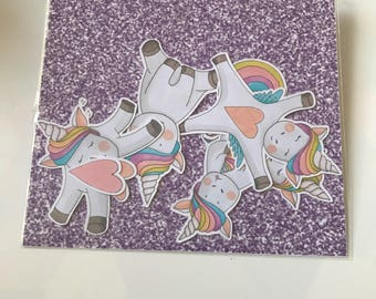 Unicorns and hearts - Die Cuts / Scrapbooking
