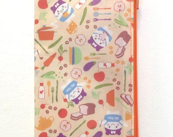 Zipper Pouch Wallet Insert Travelers Notebook Mitsuwa Market Tan theme planner insert