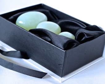Jade Yoni Egg Set | Set of 3 Drilled Jade Kegel Eggs | Yoni/Ben Wa/Vaginal/Pelvic weights | Genuine Jade Eggs | Yoni | FREE SHIPPING