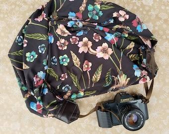 Floral Scarf Camera Strap, Camera Strap, Camera Accessories, Camera Neck Strap, Photographer Supplies