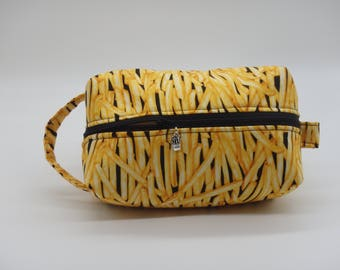 French Fries Bag, Fries Pouch, Zip Pouch, Travel Bag, Ditty Bag, Toiletry Kit, Pencil Case, Cosmetics Pouch, Go Bag, French Fry Lovers Gifts