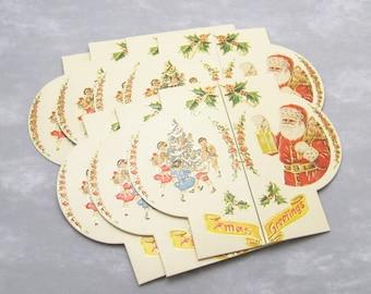 Vintage Christmas Cards Small Santa